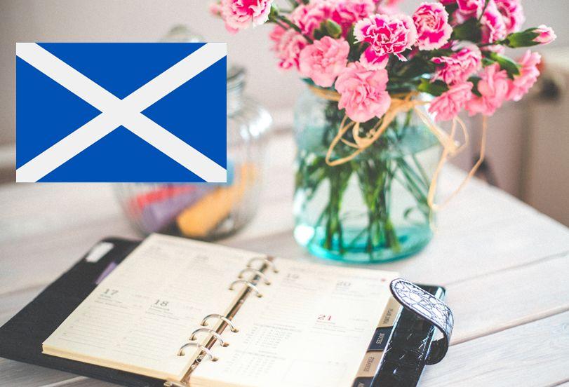 year calendar Scotland 2020